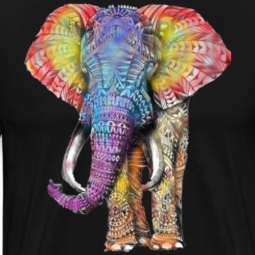 Colorful Alephant - Men's Premium T-Shirt