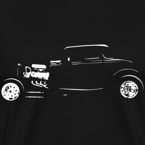 Thirties Custom Hot Rod Silhouette - Men's Premium T-Shirt