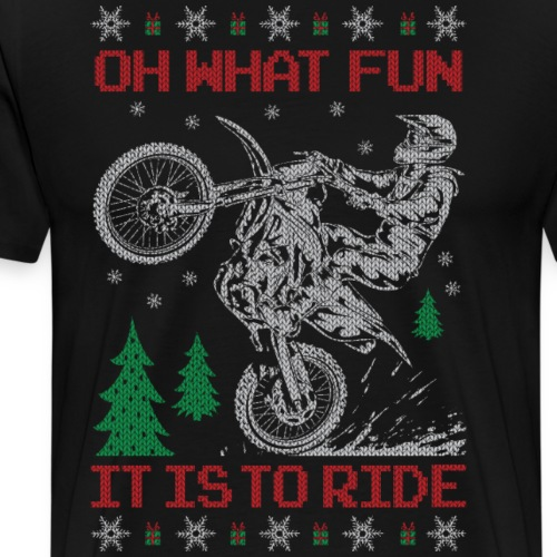 Motocross Ugly Christmas - Men's Premium T-Shirt