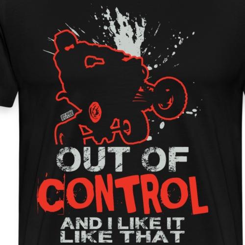 ATV Quad Out of Control - Men's Premium T-Shirt