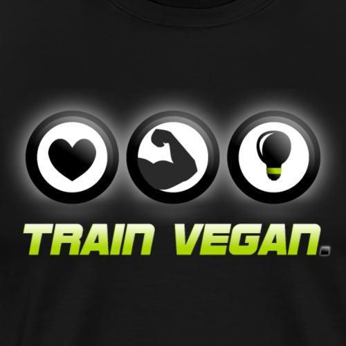 Heart   Biceps   Brains – Train Vegan. - Men's Premium T-Shirt