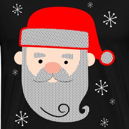 Santa Claus Texture - Men's Premium T-Shirt