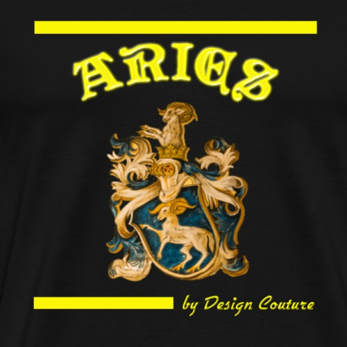ARIES YELLOW - Men's Premium T-Shirt