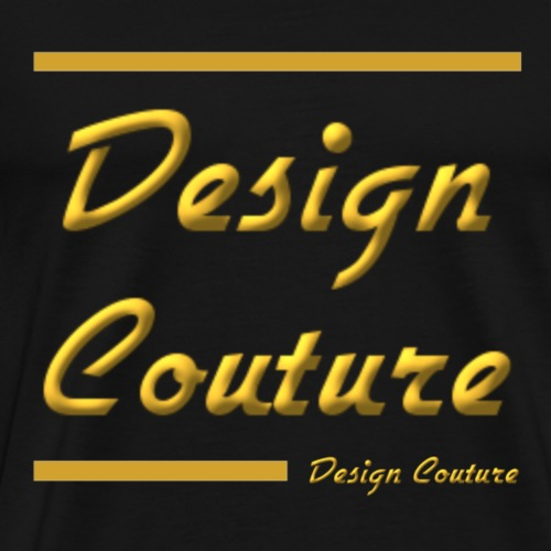 DESIGN COUTURE GOLD - Men's Premium T-Shirt