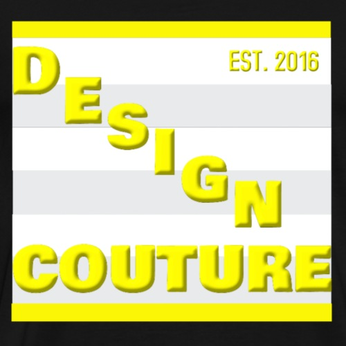 DESIGN COUTURE EST 2016 YELLOW - Men's Premium T-Shirt