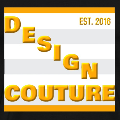 DESIGN COUTURE EST 2016 ORANGE - Men's Premium T-Shirt