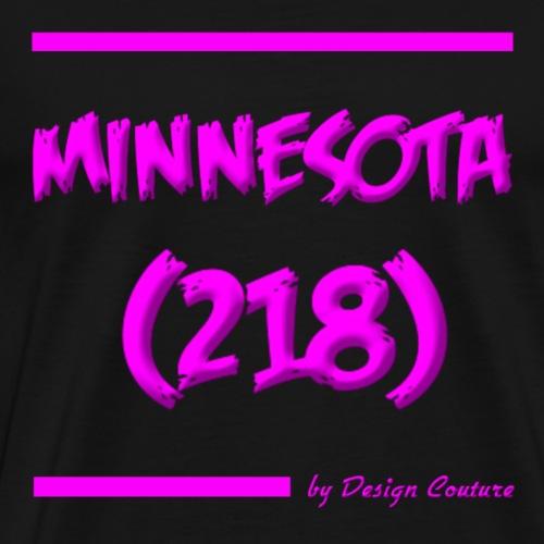 MINNESOTA 218 PINK - Men's Premium T-Shirt