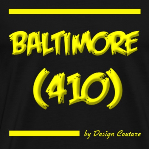 BALTIMORE 410 YELLOW - Men's Premium T-Shirt
