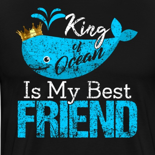 KING of Ocean Whales - Men's Premium T-Shirt