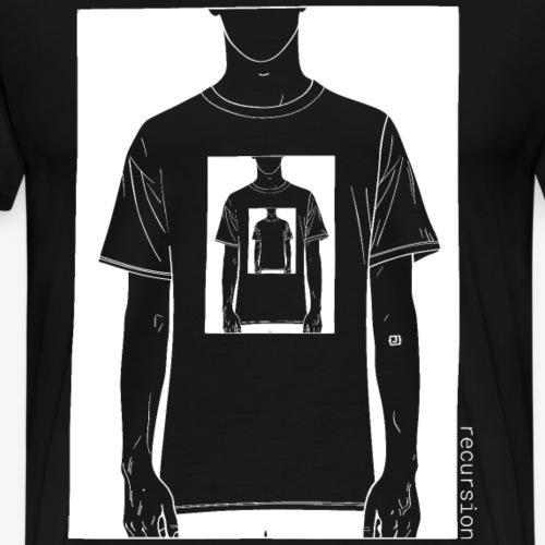 Recursion   Black & white   Optical illusion   - Men's Premium T-Shirt