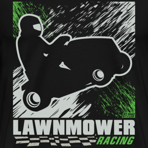Lawnmower Racing Abstract - Men's Premium T-Shirt