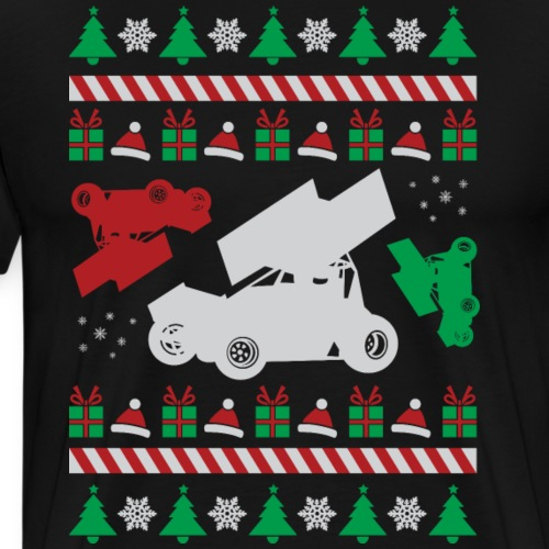 Sprint Car Ugly Christmas - Men's Premium T-Shirt