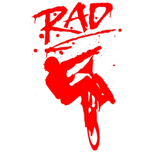 RAD BMX Bike Grafitti 80s Movie Radical T shirts - Men's Premium T-Shirt