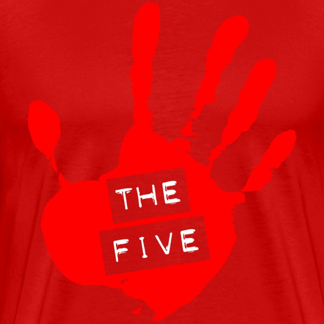 the five logo red on transparent brigh