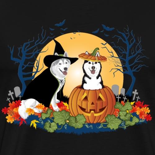 Husky Halloween Shirt - Men's Premium T-Shirt