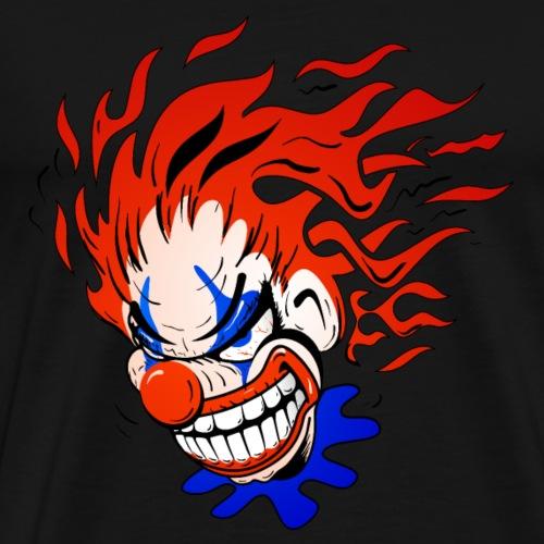 Psycho Crazy Clown Cartoon - Men's Premium T-Shirt