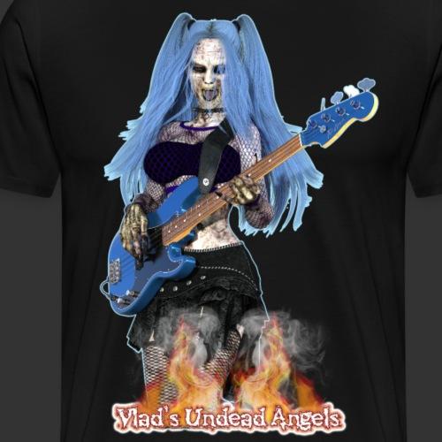 Undead Angels: Zombie Bass Guitarist Ashley - Men's Premium T-Shirt
