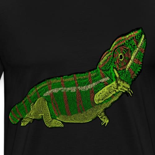 Funny Chameleon Art Shirt Design - Men's Premium T-Shirt