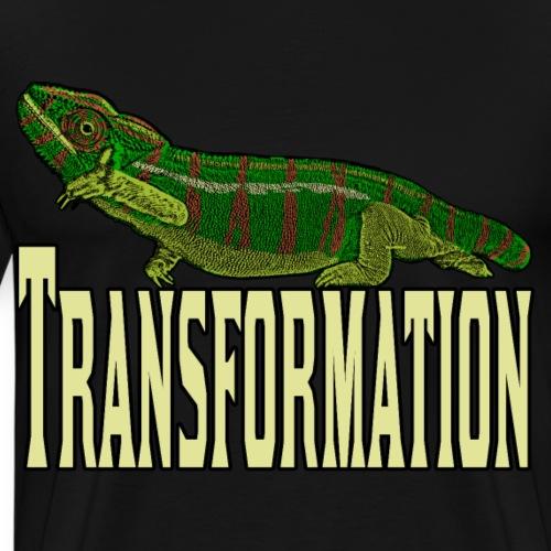Transformation Chameleon Picture Art Shirt - Men's Premium T-Shirt