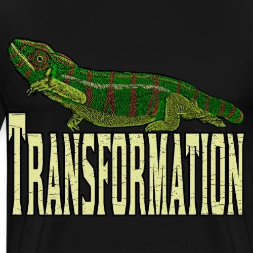 Chameleon Picture Art Shirt Transformation - Men's Premium T-Shirt