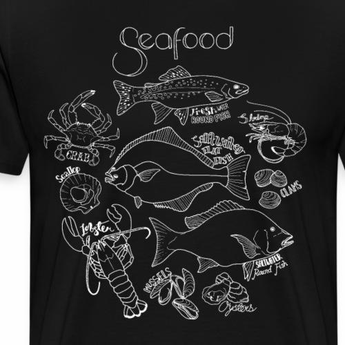 Seafood- White - Men's Premium T-Shirt