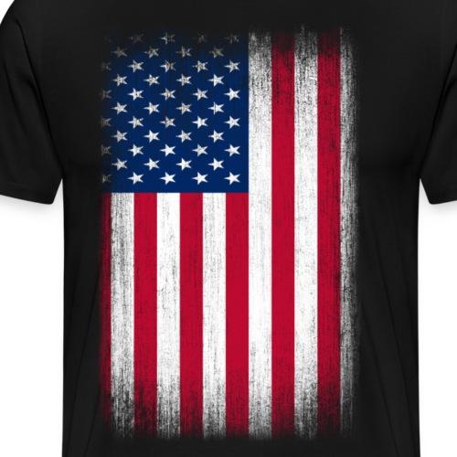USA Flag Grunge Retro Look - Men's Premium T-Shirt