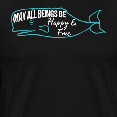 Whale Mantra Happy & Free - Men's Premium T-Shirt