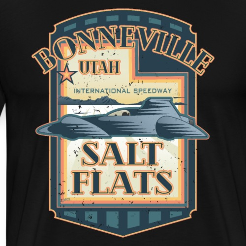 Bonneville Salt Flats Utah Land Speed Retro Design - Men's Premium T-Shirt