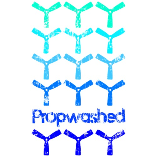 Propwashed Bullnose Prop Blues - Men's Premium T-Shirt