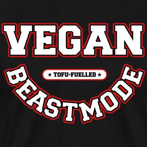 VeganBeastmode – Tofu-Fuelled [vector] - Men's Premium T-Shirt