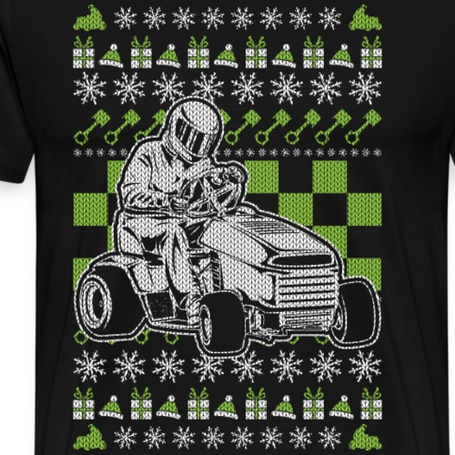 Lawn Mower Christmas - Men's Premium T-Shirt