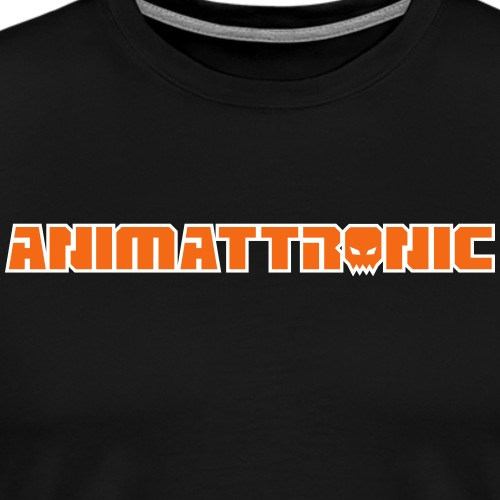 Animattronic Square Skull Logo Text - Men's Premium T-Shirt