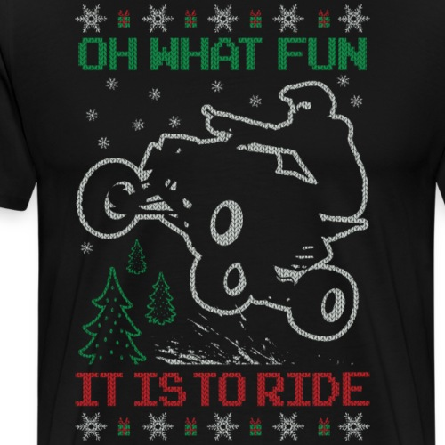 ATV Quad Ugly Christmas - Men's Premium T-Shirt
