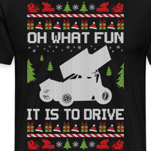 Sprint Car Christmas - Men's Premium T-Shirt