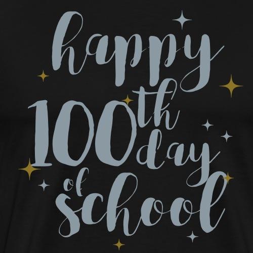 Metallic Happy 100th Day of School Glitter Teacher - Men's Premium T-Shirt
