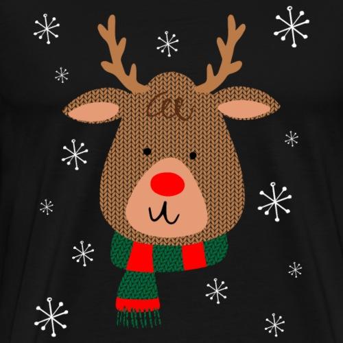 Red Nosed Reindeer - Men's Premium T-Shirt
