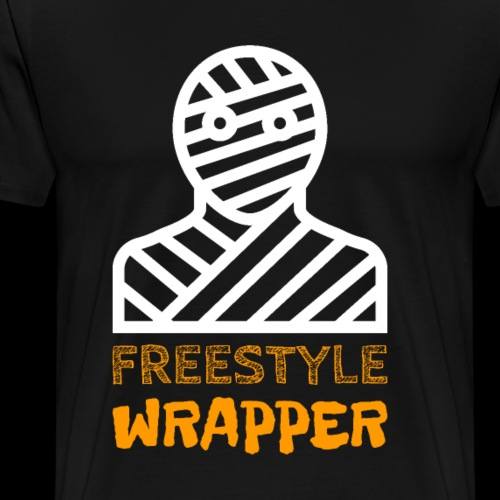 Freestyle Wrapper | Halloween Funny Mummy - Men's Premium T-Shirt