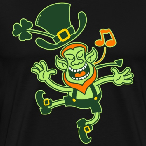 Leprechaun Dancing and Singing - Men's Premium T-Shirt