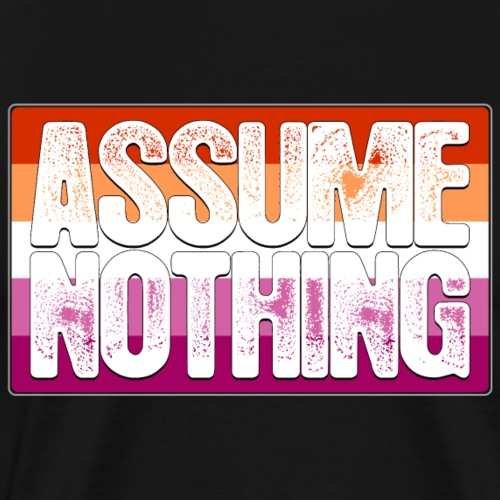 Assume Nothing Lesbian Pride Flag - Men's Premium T-Shirt