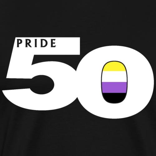 50 Pride Nonbinary Pride Flag - Men's Premium T-Shirt