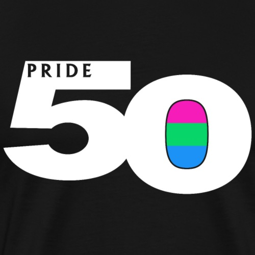 50 Pride Polysexual Pride Flag - Men's Premium T-Shirt