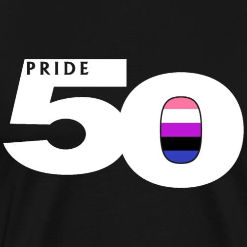 50 Pride Genderfluid Pride Flag - Men's Premium T-Shirt