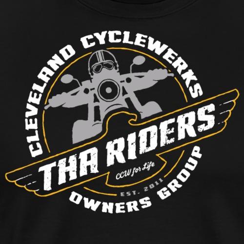 Tha Riders 3-color Cleveland Motorcycle design - Men's Premium T-Shirt
