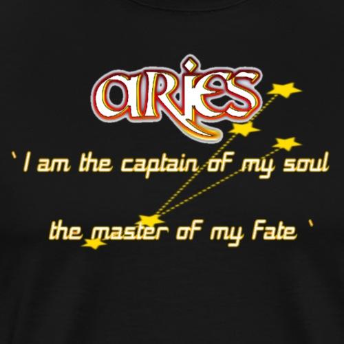 ARIES QUOTE IN THE ZODIAC - Men's Premium T-Shirt