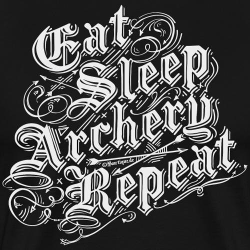 Eat Sleep Archery Repeat BLW (Archery by BOWTIQUE) - Men's Premium T-Shirt