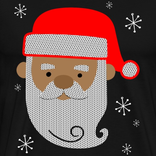 Black Santa Texture - Men's Premium T-Shirt