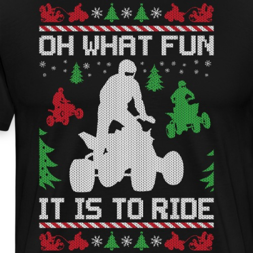 Ugly Christmas ATV Quad - Men's Premium T-Shirt