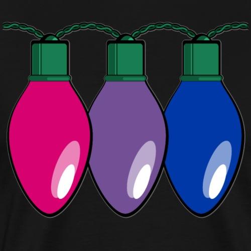 Bisexual Pride Christmas Lights - Men's Premium T-Shirt