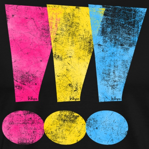 Pansexual Pride Exclamation Points - Men's Premium T-Shirt