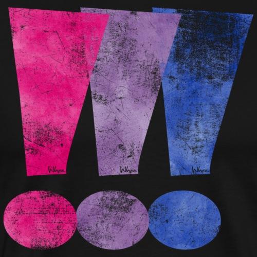 Bisexual Pride Exclamation Points - Men's Premium T-Shirt
